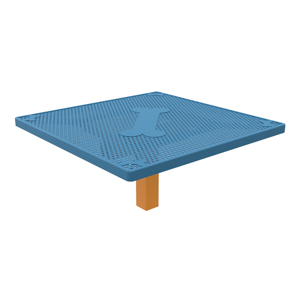 """Dog N' Play Park 46"""" Square Table, Punched Steel"""