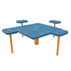 """Dog N' Play 16"""" Rectangular Park Table Pad, Punched Steel"""