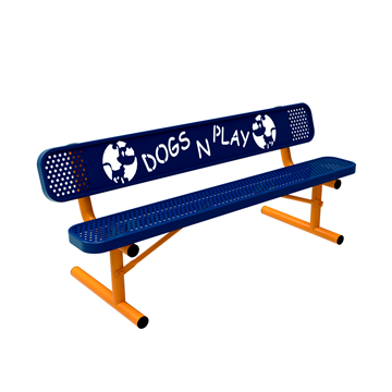 6 Ft. Punched Steel Bench With Back