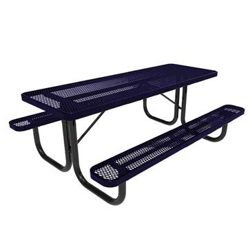 RHINO 8 ft. Thermoplastic Polyolefin Coated Picnic Table