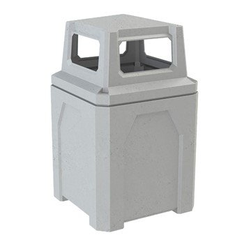 52 Gallon Plastic Receptacle with 4-way Top