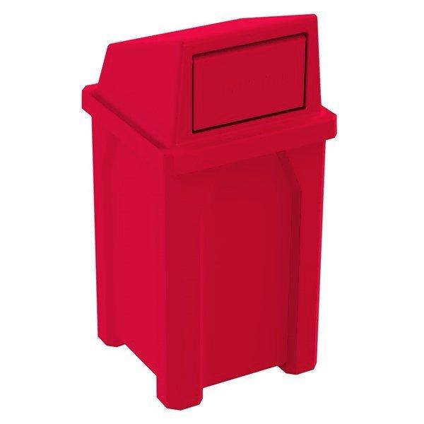 32 Gallon Plastic Receptacle with Swing Door Lid