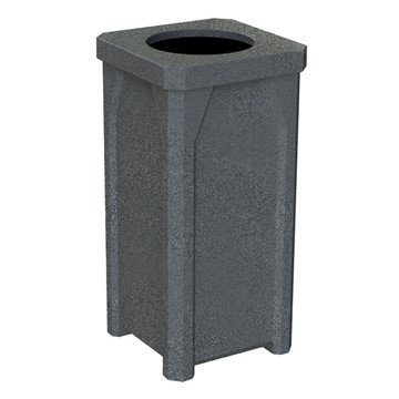 22 Gallon Plastic Receptacle with Flat Lid