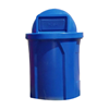42 Gallon Round Plastic Trash Receptacle with Dome Top