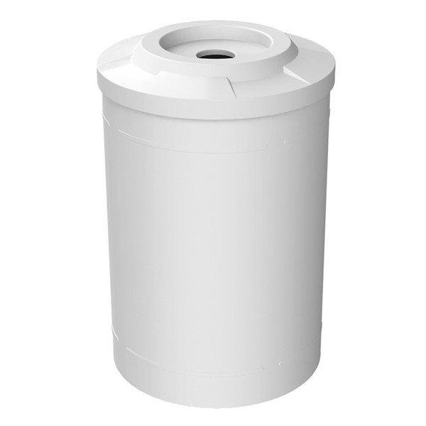 55 Gallon Round Smooth Plastic Trash Receptacle