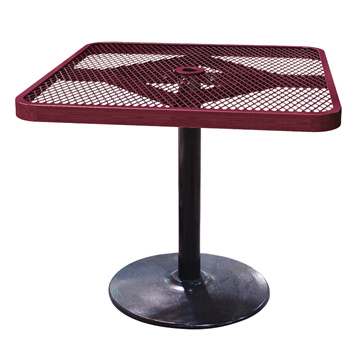 Expanded Square Patio Thermoplastic Coated Bar Height Table