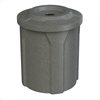 """42 Gallon Plastic Receptacle with 4"""" Recycle Lid & Liner"""