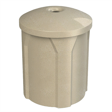 42 Gallon Plastic Receptacle with Mushroom Lid & Liner