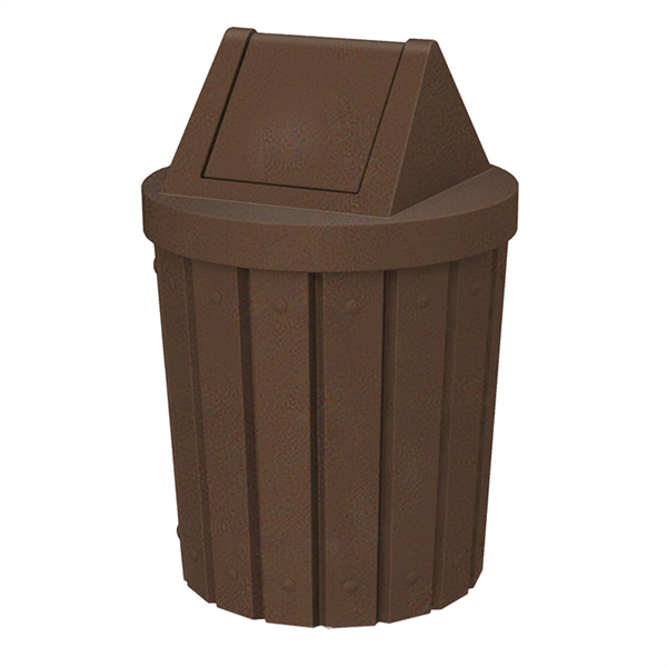 42 Gallon Plastic Receptacle with Swing Lid