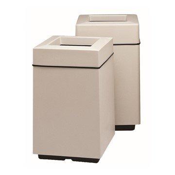 25 Gallon Fiberglass Square Trash Receptacle