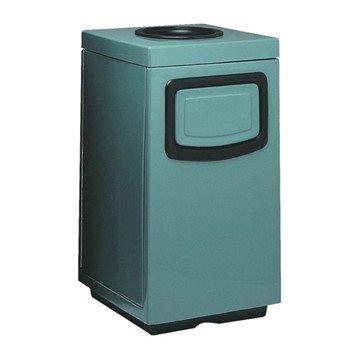 45 Gallon Fiberglass Ash and Trash Receptacle
