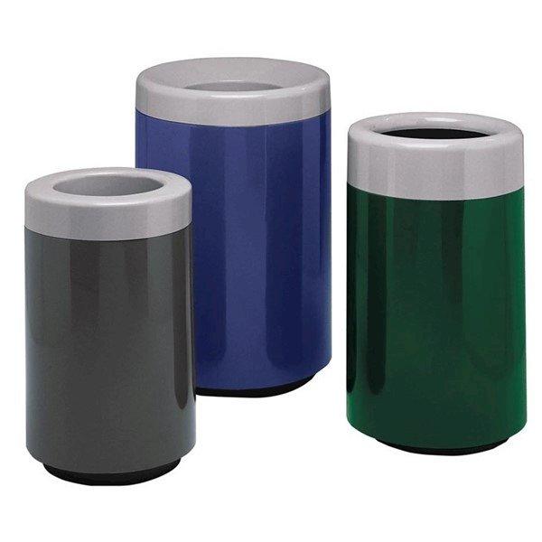 60 Gallon Round Fiberglass Trash Receptacle