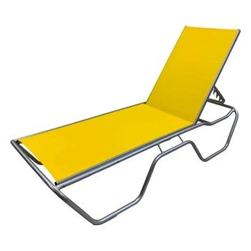 Stackable 3/4 Base Sling Chaise Lounge