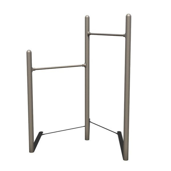 Pull Up and Chin Up Bars Powder-Coated and In-Ground Mounted - 116 lbs.