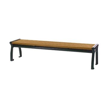 8 Ft. Park Ave Recycled Plastic Backless Bench With Cast Aluminum Frame